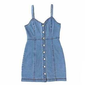 Forever 21 Button Down Denim Mini Dress